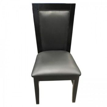 Solid Wood Poker Chairs Black Color_1