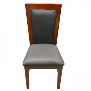 Solid Wood Poker Chairs Mahogany Color