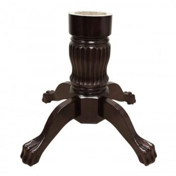 Solid Wood Poker Table Leg - Mahogany