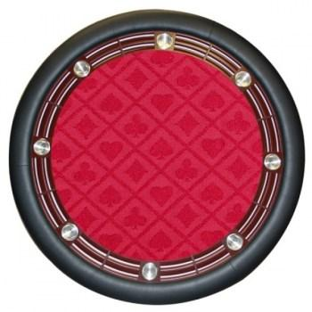 Suited Speed Poker Table Cloth Waterproof (Red)
